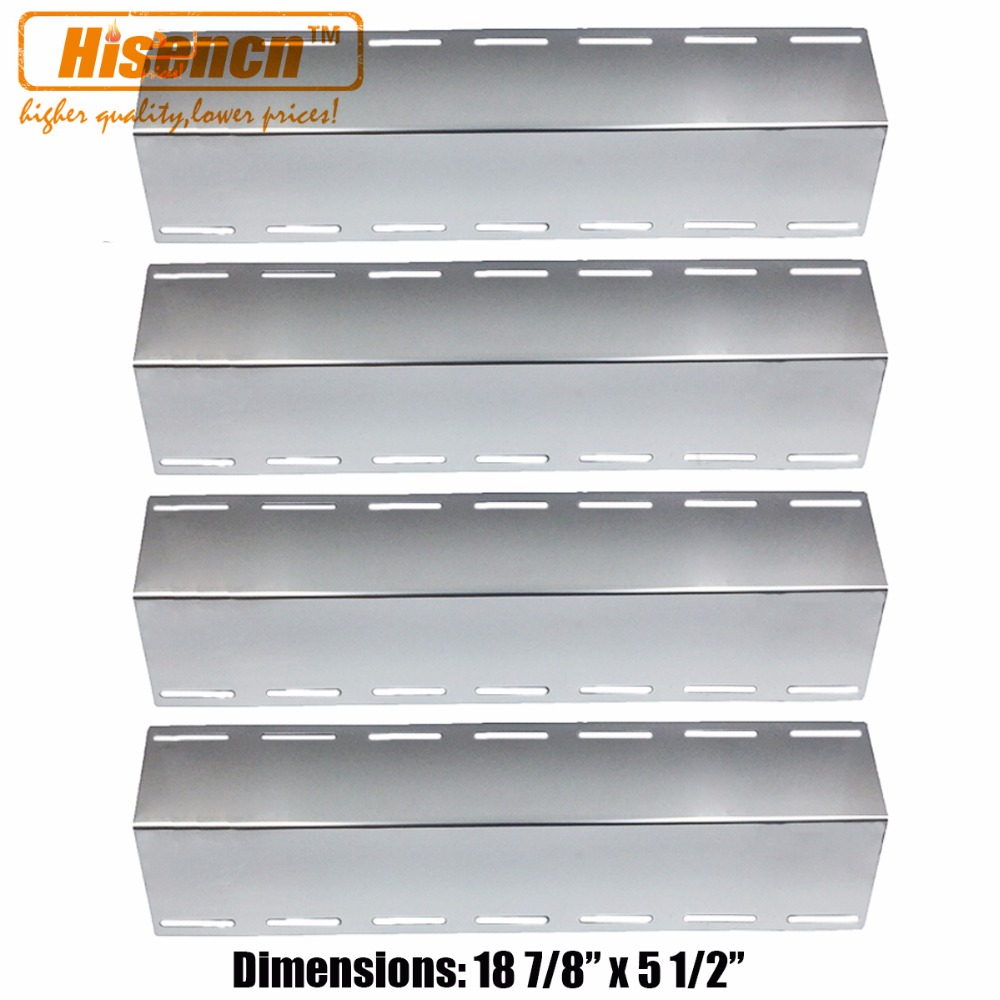 Hisencn 18 7 8 x 5 1 2 BBQ Parts 4 Pack Stainless Steel Heat Plates
