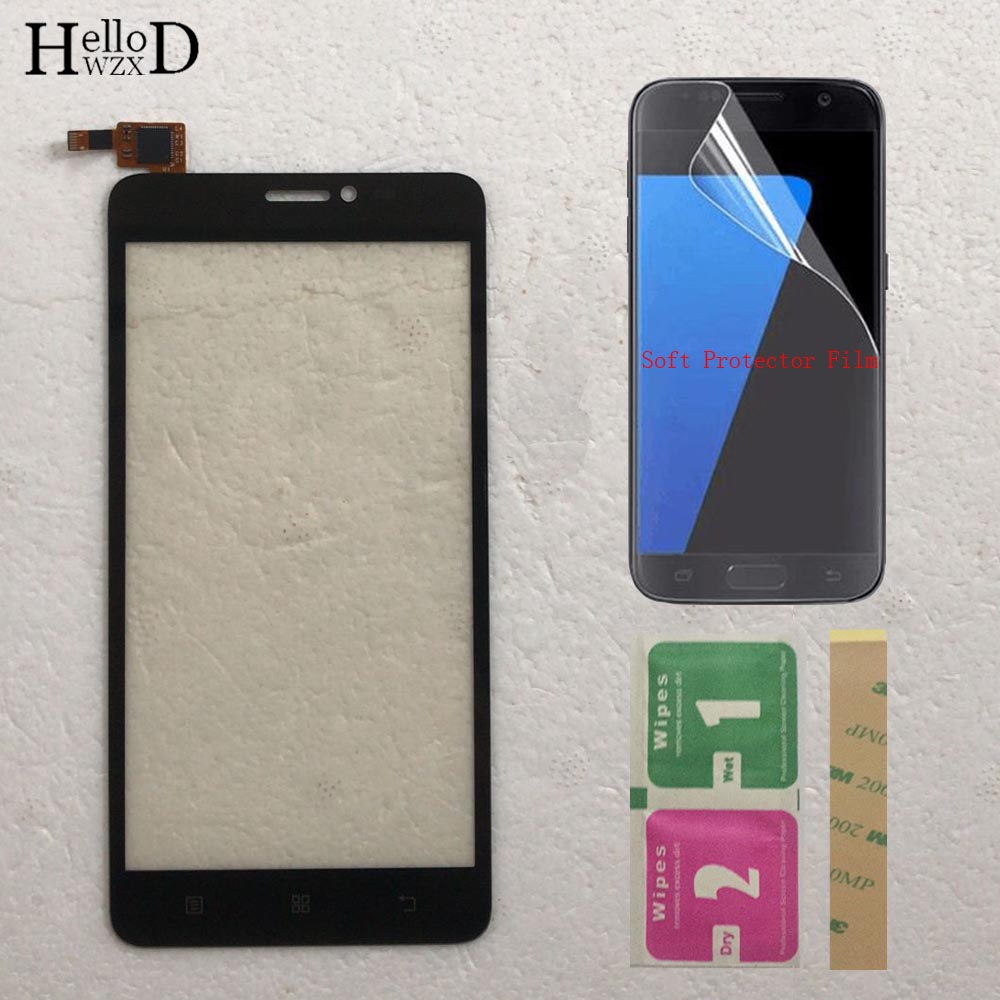Mobile TouchScreen Touch Screen For Lenovo S850 S850T Touch Screen Digitizer Panel Front Glass Sensor Free Protector Film