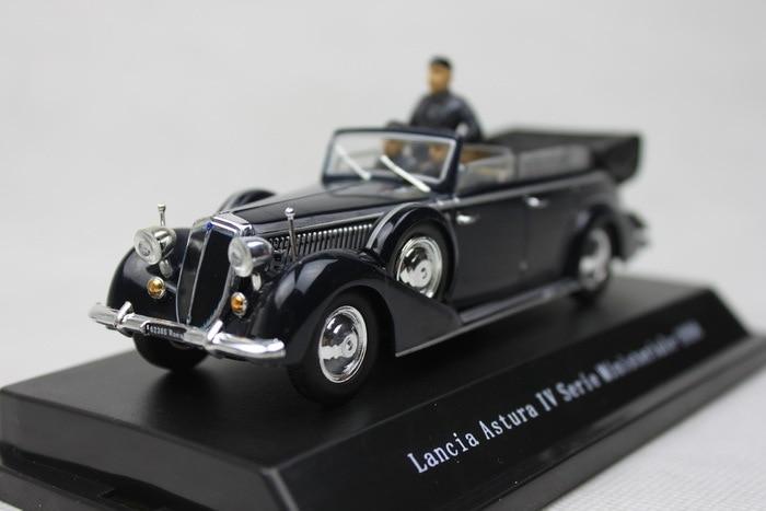 PRC 1 43 Lancia Asturu IV Serie Ministeriale 1938 with dolls version Vintage car alloy model
