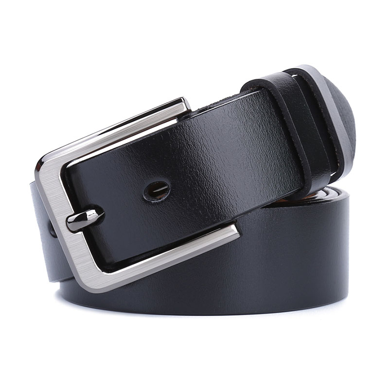 Large Size 150 160 170cm Pin Buckle   Belts   Genuine Leather Men's   Belt   for Jeans Black High Quality Real Cowhide Male Strap   Belts