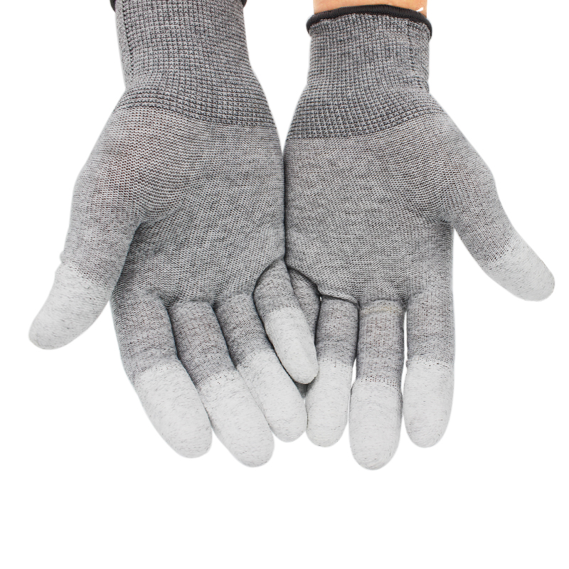 5pairs PU Anti Static Gloves ESD Safe Gloves Antistatic Non-slip Industrial Working PC Computer Gloves Free Shipping