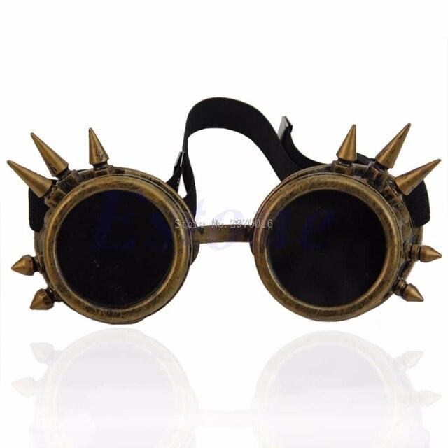 Vitoriano Gótico Cosplay Rebite Steampunk Óculos de Solda Óculos De Punk F05 d299e3ed19