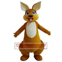 Hot Sale Adult Lovely Kangaroo Mascot Costume Custom Made Mascot Fancy Dress Costumes Animal Costume Party Costumes