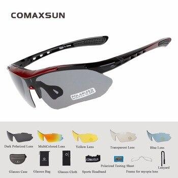 f2f5a475a7 Profesional Polarizada Gafas Ciclismo Bike Gafas Gafas Al Aire Libre  Deportes de Bicicletas gafas de Sol UV 400 Con 5 Lente TR90 5 color