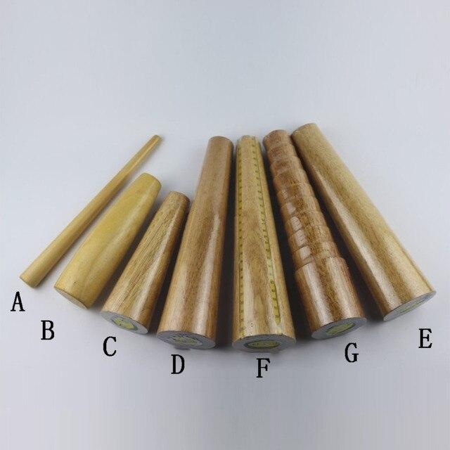 Wooden Bracelet Mandrel Sizer Round Oval Hard Wood Form Shaping Jewelry Bracelets