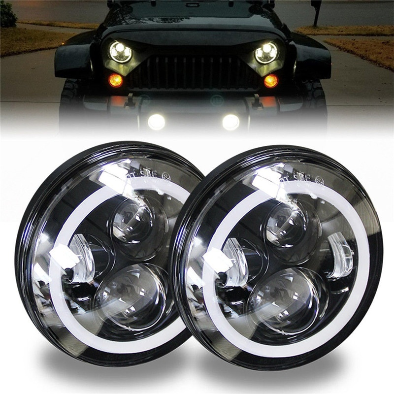 CO LIGHT 7Inch Round Led Headlight Led 12V 50W with Angel Eye Turn Signal Lights for 97-15 Jeep Wrangler Toyota Lada Car styling