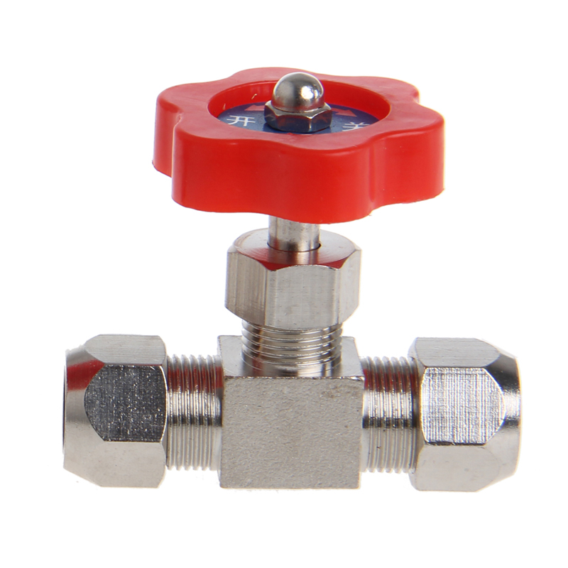 Durable Tube Nickel-Plated Brass Plug Needle Valve OD 6mm/8mm/10mm 6 10 mm brass nickel plated m20 1 5 mm electric cable gland waterproof x 10