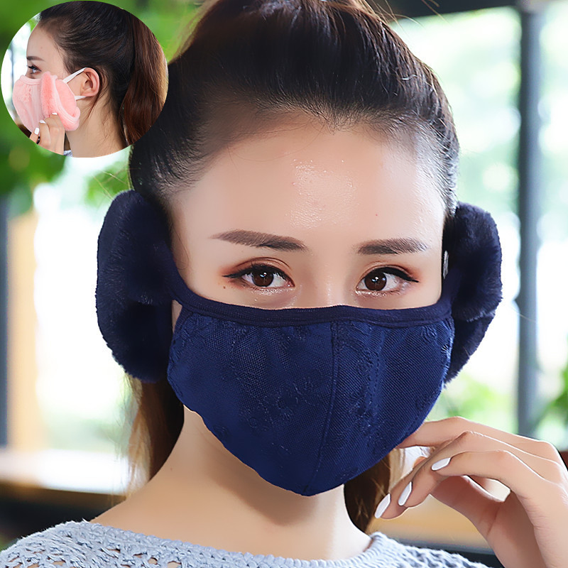 Women Anti Pollution Mask Dust Respirator Washable Reusable Masks Cotton Unisex Mouth Muffle For Allergy/Asthma/Travel Keep Warm