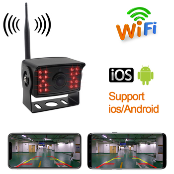 OTERLEEK New WIFI Truck Bus Vehicle Rear View Camera Wifi Back Up Camera for ipad  for iPhone Android and Car GPS