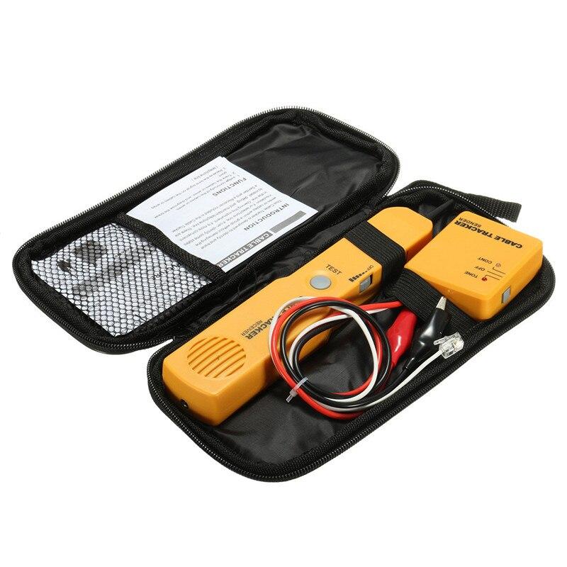 Провода телефон Finder Tracker Тестер отправителя приемник Провода линии тон Телефон Сетевой кабель Сетевое Оборудование детектор Tool Kit + коробка