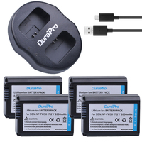 4Pcs NP FW50 NP FW50 Camera Battery Dual USB Charger For SONY A5000 A5100 A7R A6000