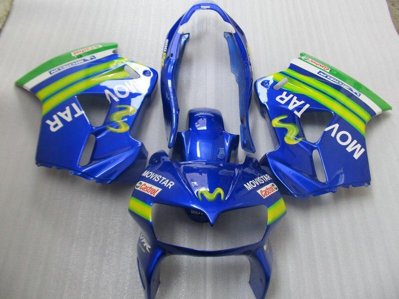 Motorcycle Fairing Kit For Honda Vfr800 98 99 00 01 Vfr 800 1998 1999 2000 2001 Abs Top Blue