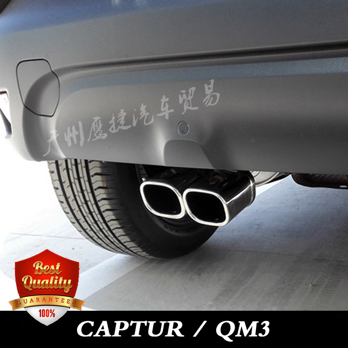 цена на for RENAULT CAPTUR / SAMSUNG QM3 Stainless steel exhaust pipe tail pipe muffler auto accessories 1 pcs
