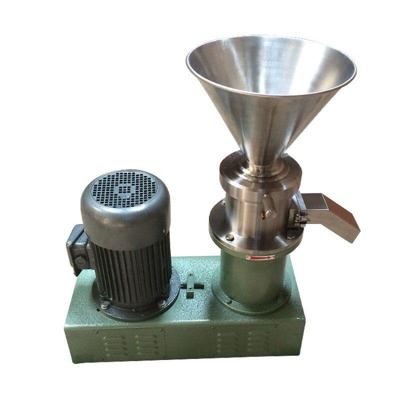 Máquina para hacer mantequilla de maní JMS130, molino coloidal de acero inoxidable, molinillo para salsa de Chile, almendra, moledora de grano de cacao