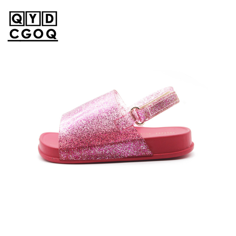 Mini Melissa Style Glitter Kids Sandals Glitter Sandals Girls Jelly Sandals Shoes 2019 New Girls Sandals Breathable Girls ShoesMini Melissa Style Glitter Kids Sandals Glitter Sandals Girls Jelly Sandals Shoes 2019 New Girls Sandals Breathable Girls Shoes