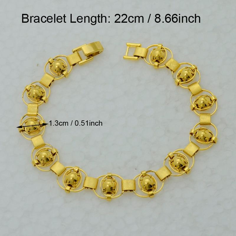 Men Chain Bracelet Women 22k Yellow Real Gold Plated Filled
