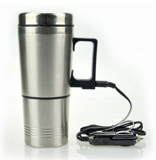 300ml Electronic Coffee Mug Stainless Steel Thermos Travel Tea Cup 12v 70w In Car Charging