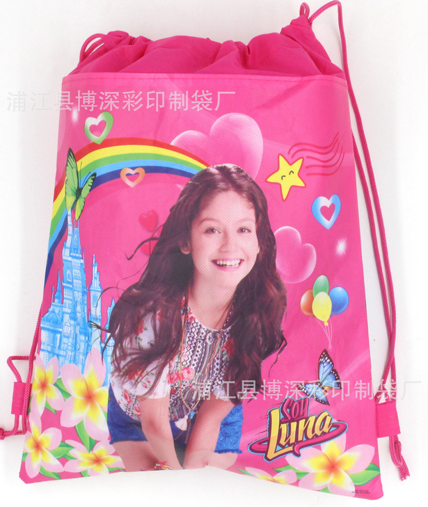 12pcs Non-woven Fabric Soy Luna Drawstring Bags Kids Favors Events Gifts Birthday Party Shopping School Traveling Bags