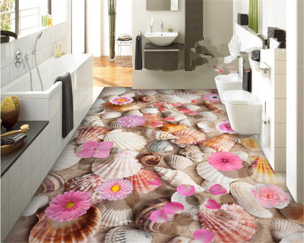 beibehang papier peint Shell conch water floats 3D floor tiles papel de parede 3d wallpaper for walls 3 d wall papers home decor