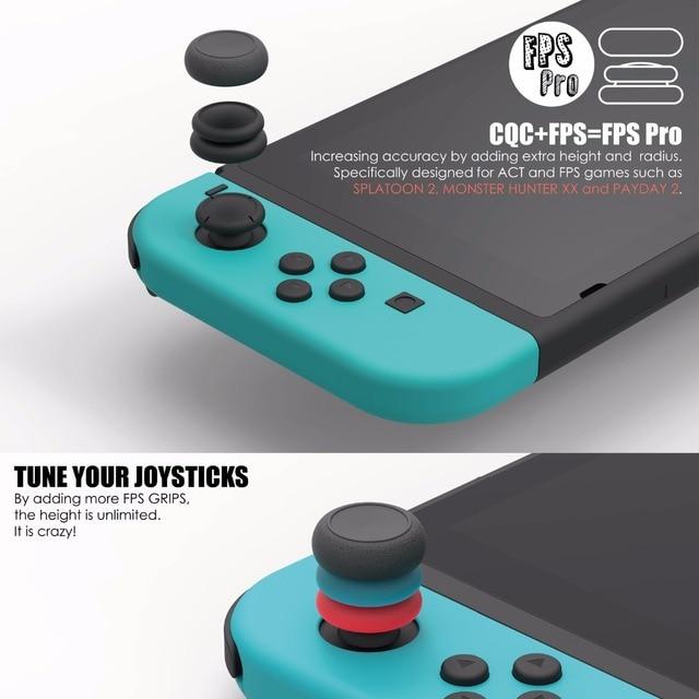 Skull & Co. FPS CQC Thumb Grip Set Joystick Cap Thumbstick Cover for Nintend Nintendo Switch Joy-Con Controller 3