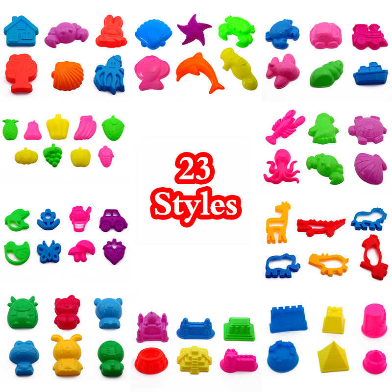 23 Styles Child Kid Model Building Kits Portable Castle Sand Clay Mold Building Pyramid Sandcastle Beach Sand Toy