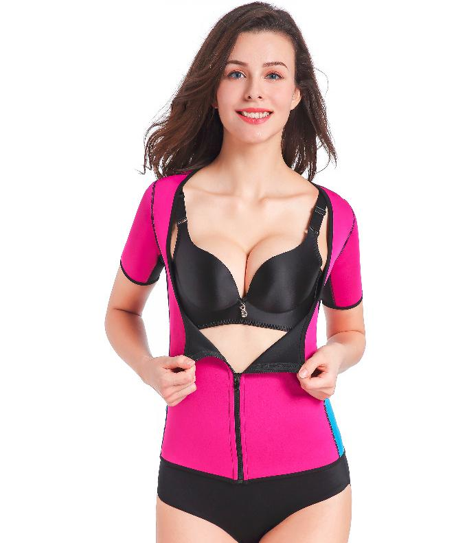 2018 New Hot Women Sauna Suit Waist Trainer Neoprene Shirt For Workout Weight Loss Corset Hot Body Shaper Top