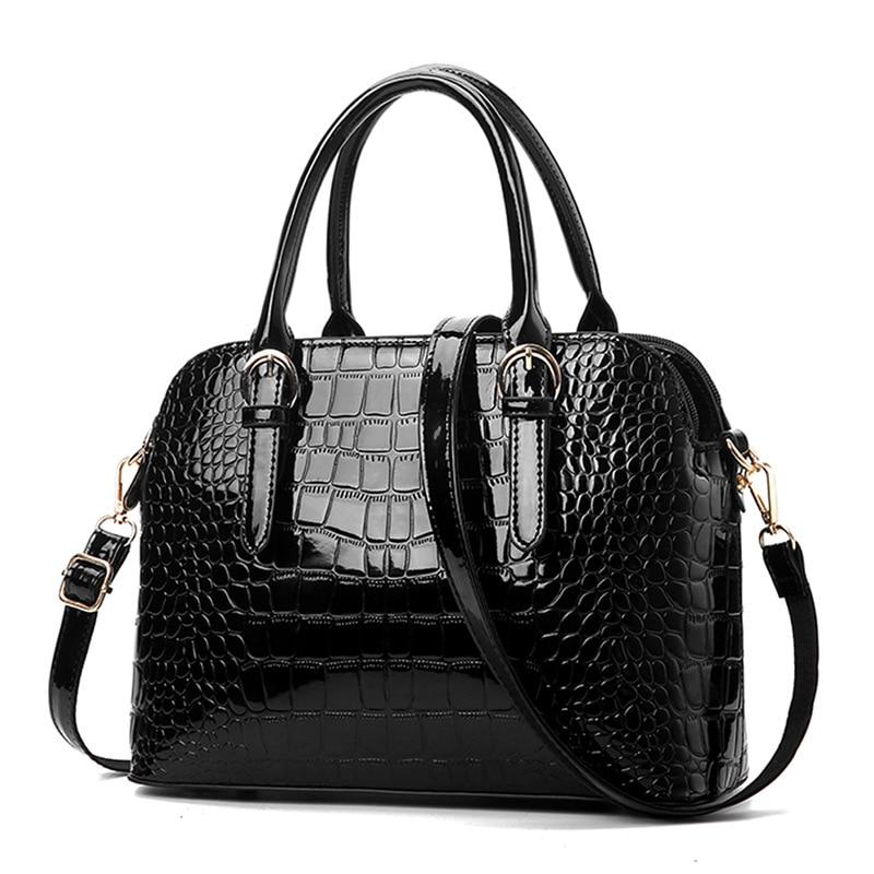 HerMerce Luxury Handbags Women Bags Designer Black Hand Bag Tote Shoulder Bags Women Leather Handbags Alligator bolsa feminina