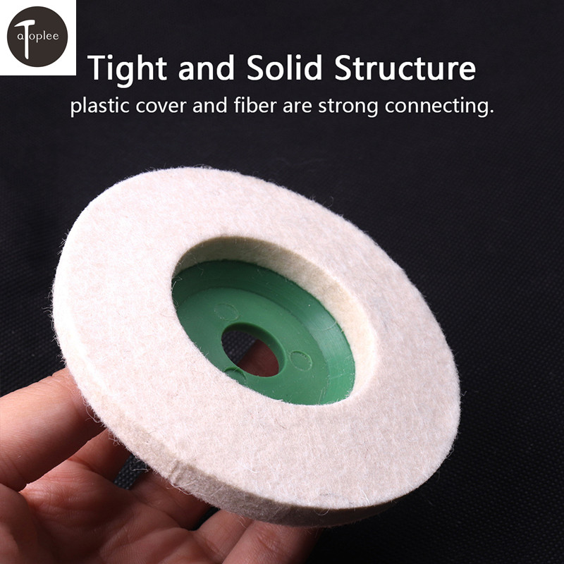 1PCS 4 Inch 98mm Wool Buffing Round Polishing Wheels Pads Polisher Pearl Cloth Wheels For Copper Iron Aluminum Metal Tools