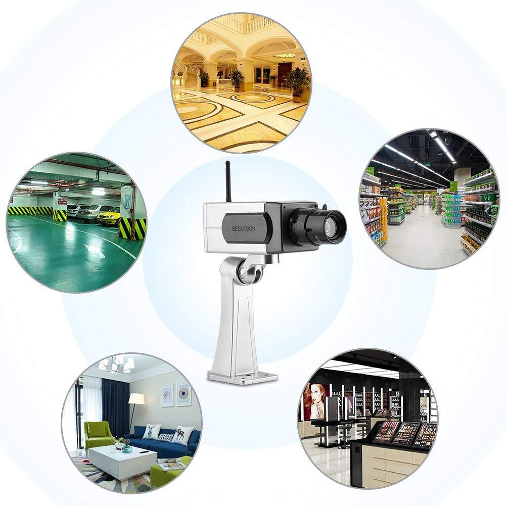 Wireless Dummy Fake Camera LED Surveillance Camera Bullet Camera CCTV Surveillance Security Camera Flashing Motion Detection Cam