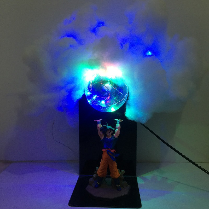 DROPSHIPPIN Anime Dragon Ball Z fils Goku figure jouets Kakarot Genki dama esprit bombe nuage bricolage LED veilleuses cadeau de noël