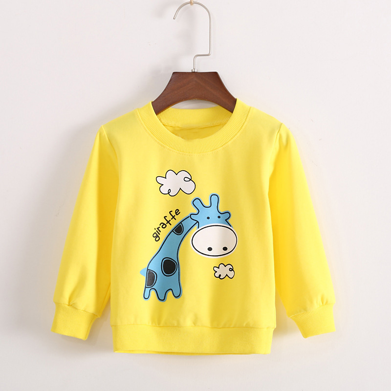 Spring Autumn Casual Gilrs Boys Baby Children Infant,Babi Long Sleeved Printed Cartoon Tops T-shirt PLUS054
