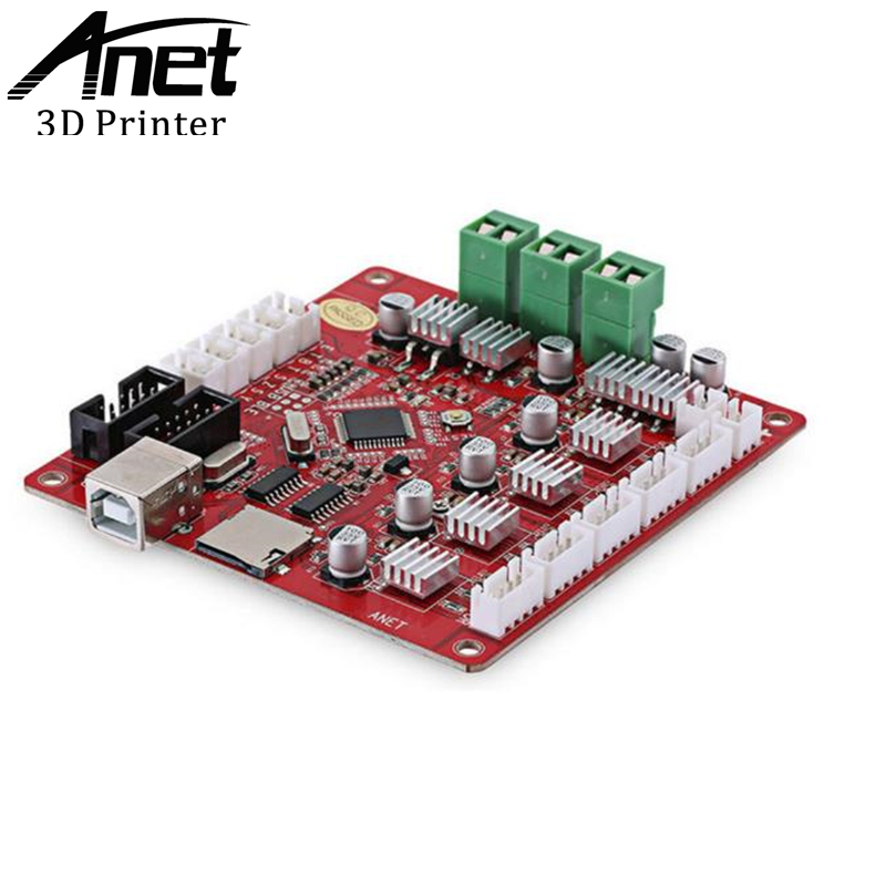 ANET Original A6 3D Printer Mainboard Send From Moscow Ship By Russian Post abs original anet 3d filament plastic for 3d printer and 3d pen many colors 1kg 340 m abs express shipping from moscow