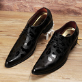 Hot Sale Luxury Italian Brand Men Genuine Leather Pointed Toe Designer Dress Shoes Men Leather Wedding Shoes Gold Silver Black