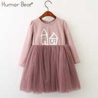 Humor Bär Kinder Kleidung Herbst Mädchen Kleid Baby Mädchen Prinzessin Kleid Mode Kleine Haus Gedruckt Party Kleid Mädchen Kleidung