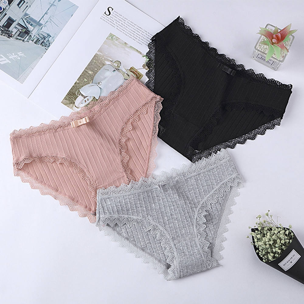 Women Sexy Panties Cotton Briefs Women's Panties Briefs Lovely Girls Solid Soft Underwear Multicolor Sexy Lingerie Intimates