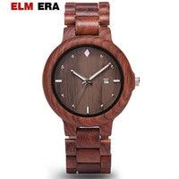 ELMERA relogio masculino watch wood men business wooden watches 2018 mens fashion luxury wristwatch sports unique