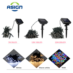 LED Solar String Light Outdoor Waterproof 50/100/200 LEDs Led String Lights Christmas Decoration Party Holiday Fairy Lighting