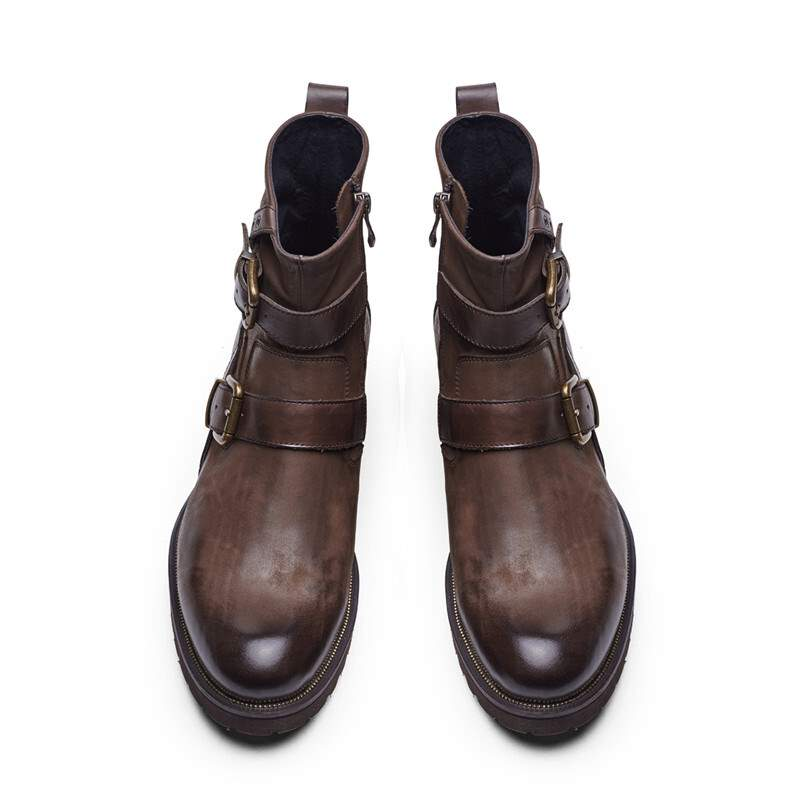 Mujer E Señoras brown Otoño Cuero Tobillo Nb279 Las La Femenino De Botas Black Pu Sapato Invierno Moda tYwSnq
