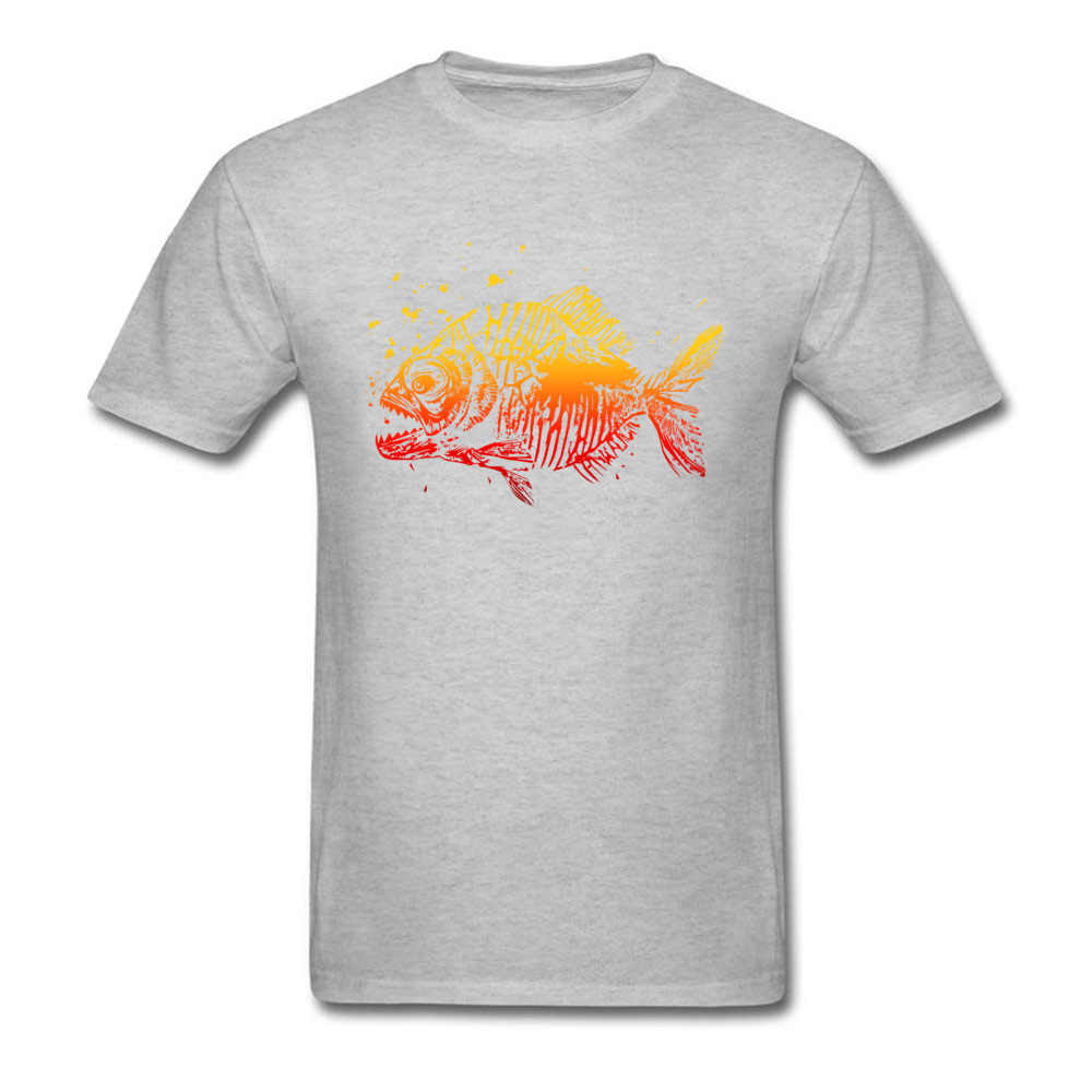 Пожарная Пиранья Футболка с принтом рыб хоккаид тунец мужская белая черная футболка 2018 Новое поступление мужские модные футболки для мужчин хлопок