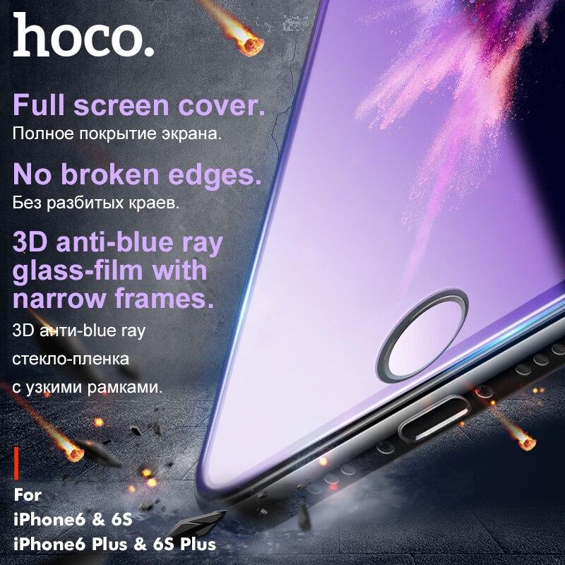 Galleria fotografica HOCO for Apple iPhone 6 6S PLUS 3D Tempered Glass Film 9H Screen Protector Protective Full Cover for Touch Screen Protection