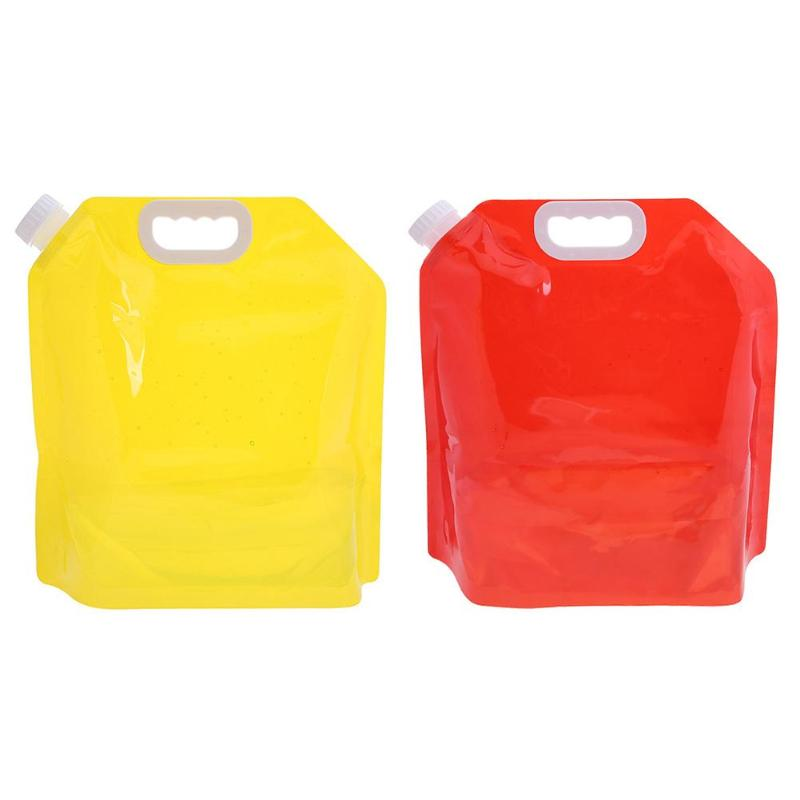 5L Clean Portable Water Container Carrier Storage Bag Color Foldable Transparent Drinking Water Bag Outdoor Sports Hiking Tools