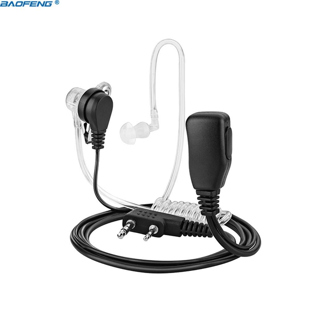 2-Pin Covert Akustische Rohr Walkie Talkie Headset Hörer Mikrofon für Kendwood Baofeng TYT Wouxun Tragbare CB Radio