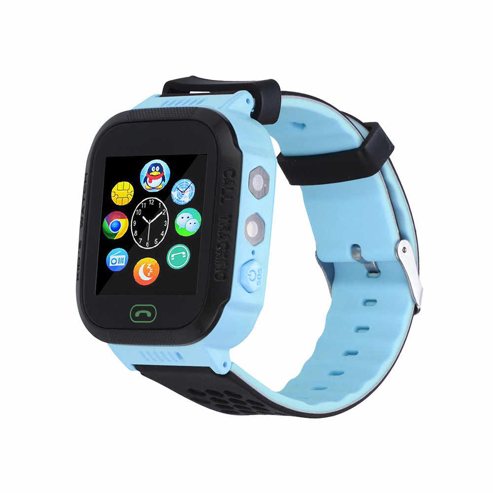 Q528 Russian Smart Watch with GPS GSM Locator Touch Screen Tracker SOS Flashlight for Kids Children family phone Tracking YECF