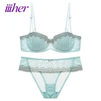 Iiiher Sexy Women Lace Lingerie Bra Set Push Up Bras And Underwear Sets Plus Size A
