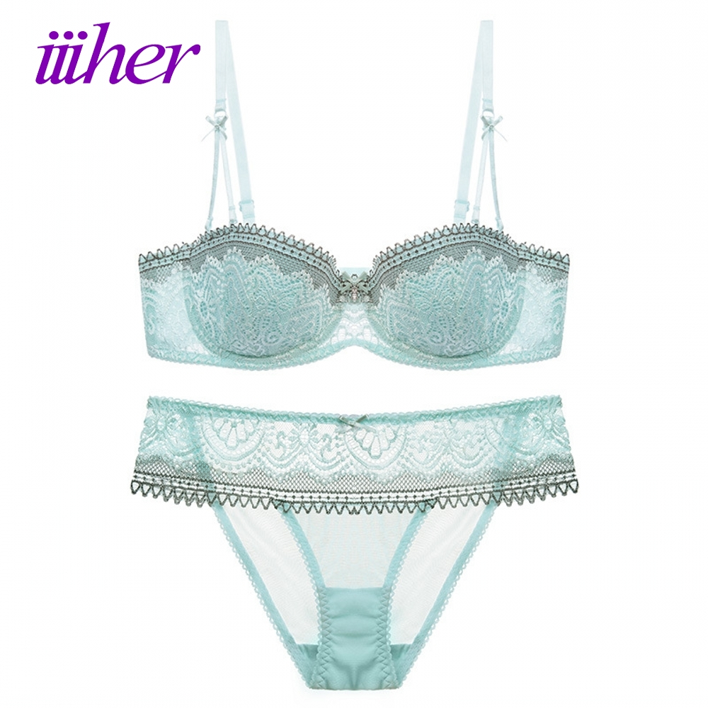 iiiher Sexy Women Lace Lingerie Bra Set Push Up Bras And ...