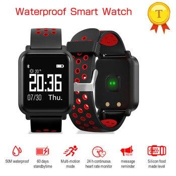 Bluetooth Smart Bracelet IP68 Waterproof Support Blood Pressure Blood Oxygen Heart Rate Sleep Monitor Sports Smart Bracelet