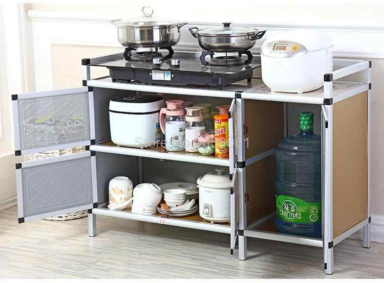 Stove Shelf Kitchen Gas Cabinet Kitchen Rack Gas Stove Shelf Kitchen Storage Cabinet Assembly Kitchen Cabinets Aliexpress