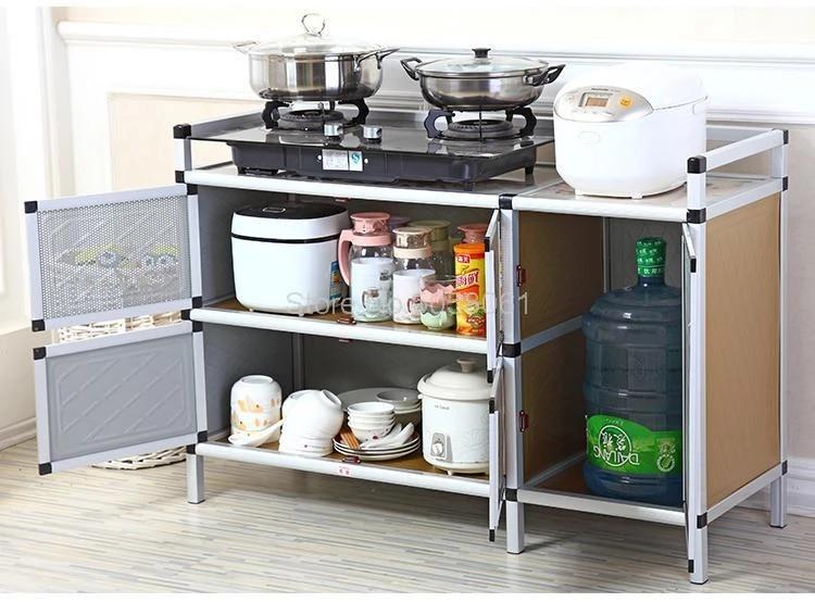 Stove Shelf Kitchen Gas Cabinet Kitchen Rack Gas Stove Shelf Kitchen Storage Cabinet Assembly Kitchen Cabinets Aliexpress