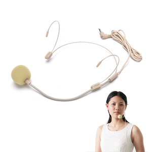 Dual Ear Hook Headset Head Mic