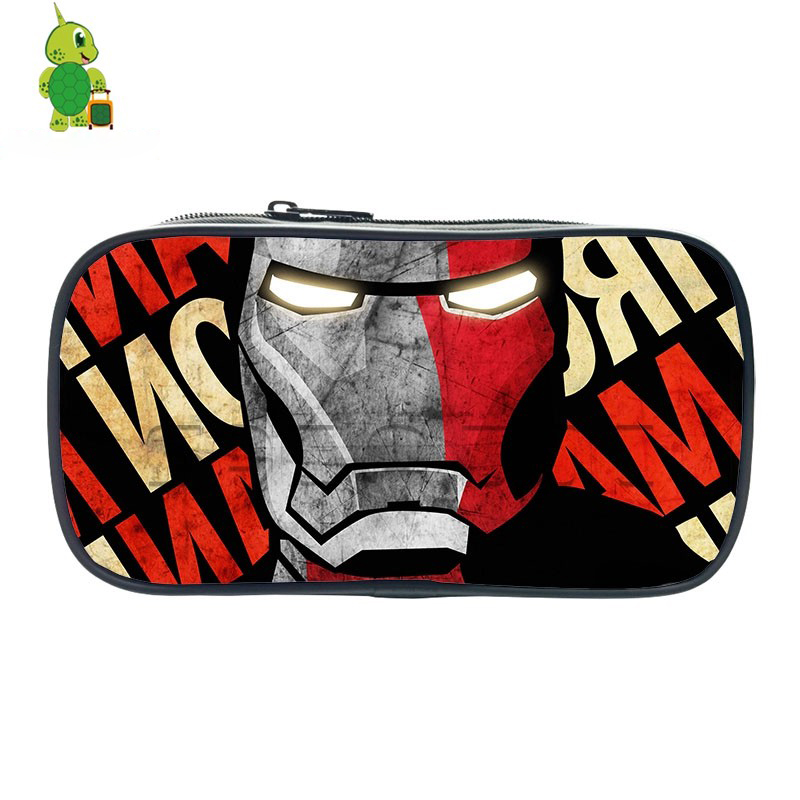ba3f3609d5d9 Avengers Iron Man Tony Stark Cosmetic Cases Boys Girls Large Capacity  Pencil Holder Kids Stationery Storage Bags School Supplies-in Cosmetic Bags  & ...